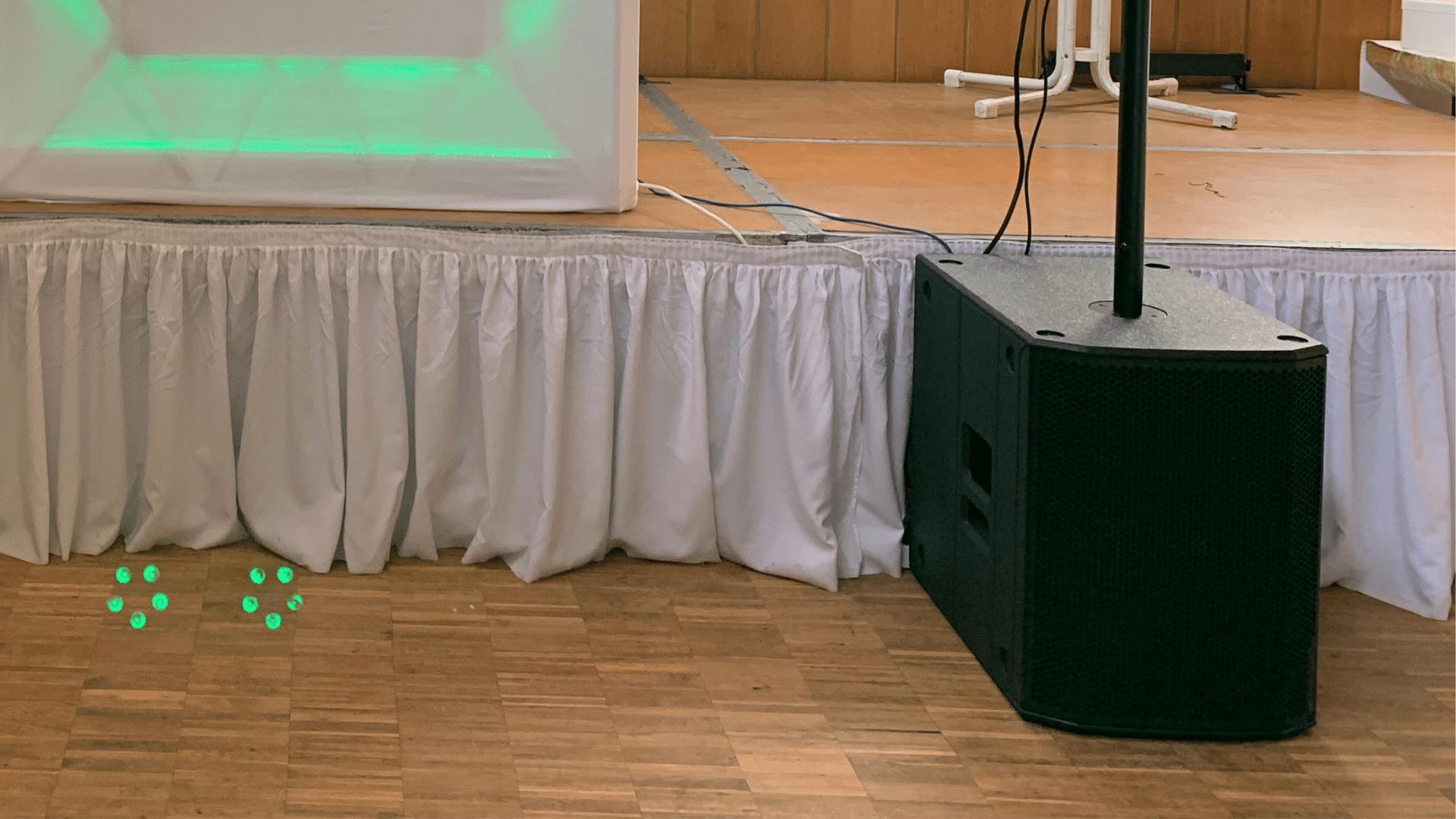DJ MI-SEVEN Setup Subwoofer Technik